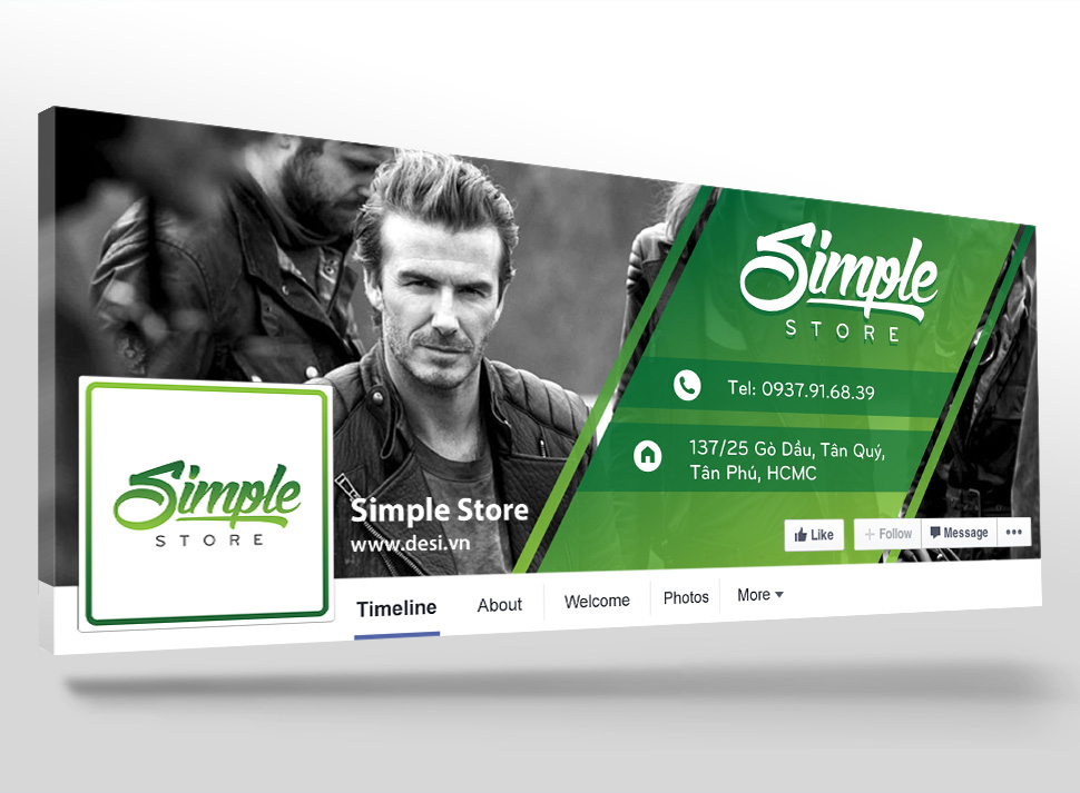 Ảnh bìa Facebook Simple Store