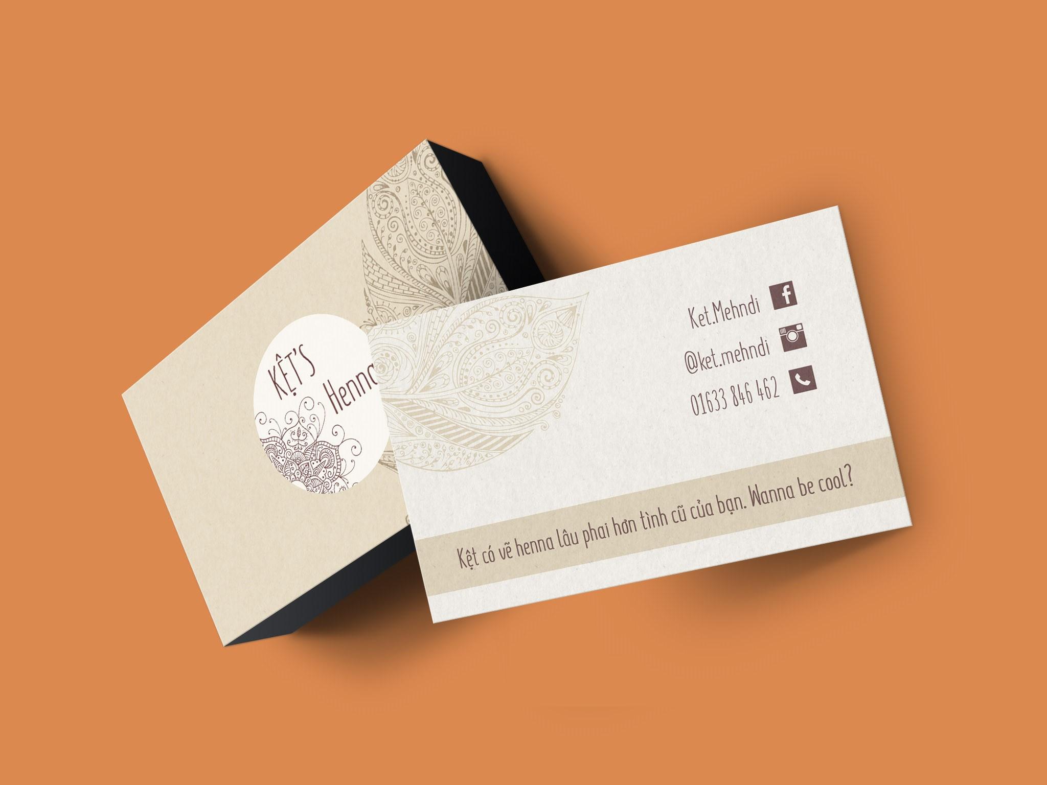 Name card Kệt's Henna