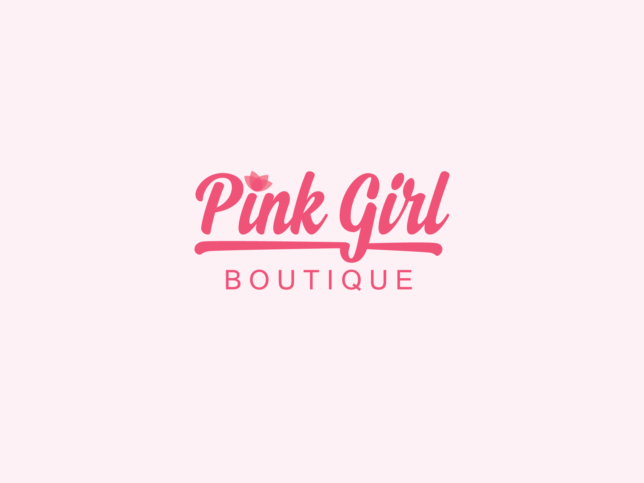 Logo Pink Girl Boutique