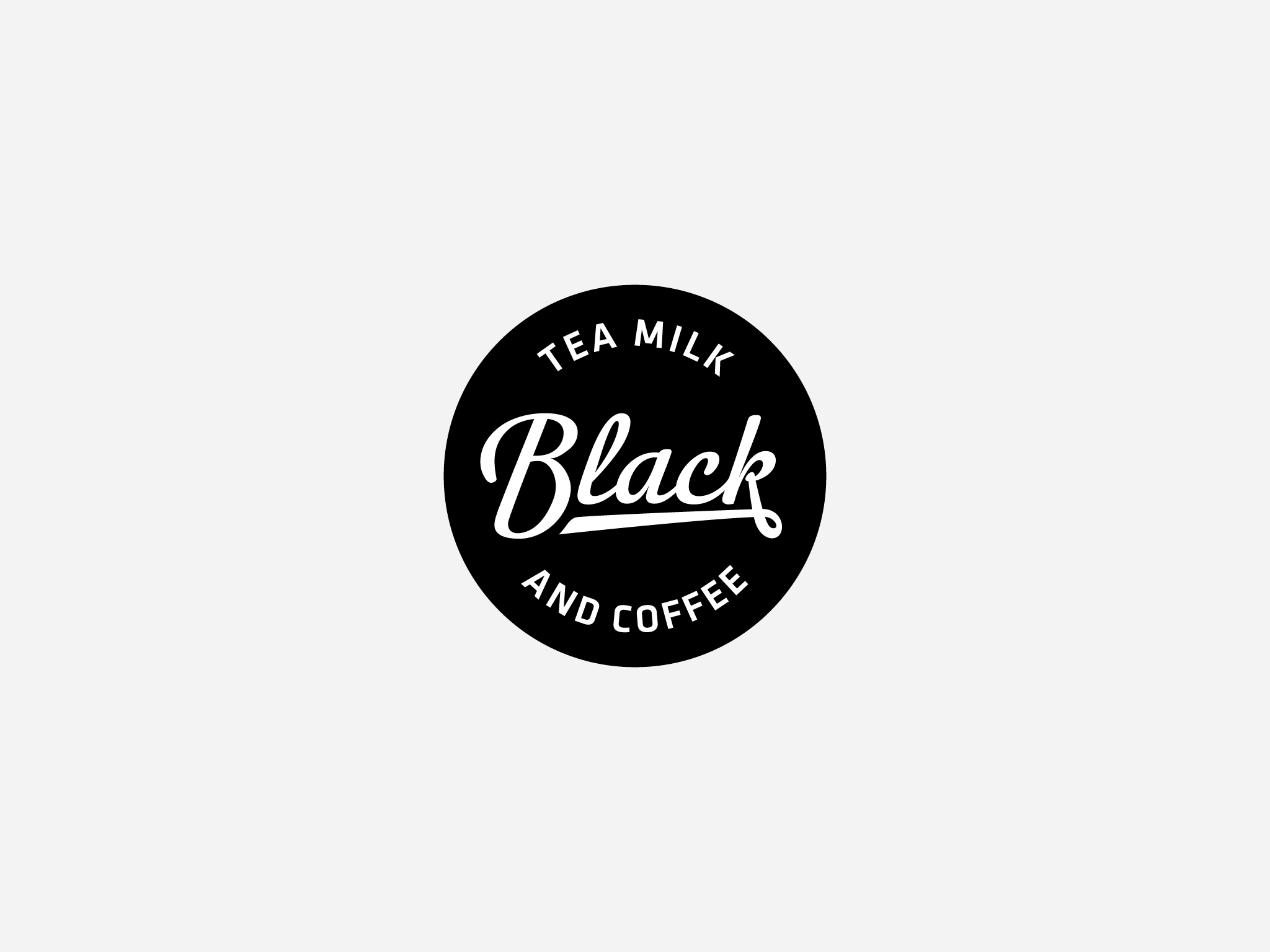 Logo Black Tea Milk And Coffee