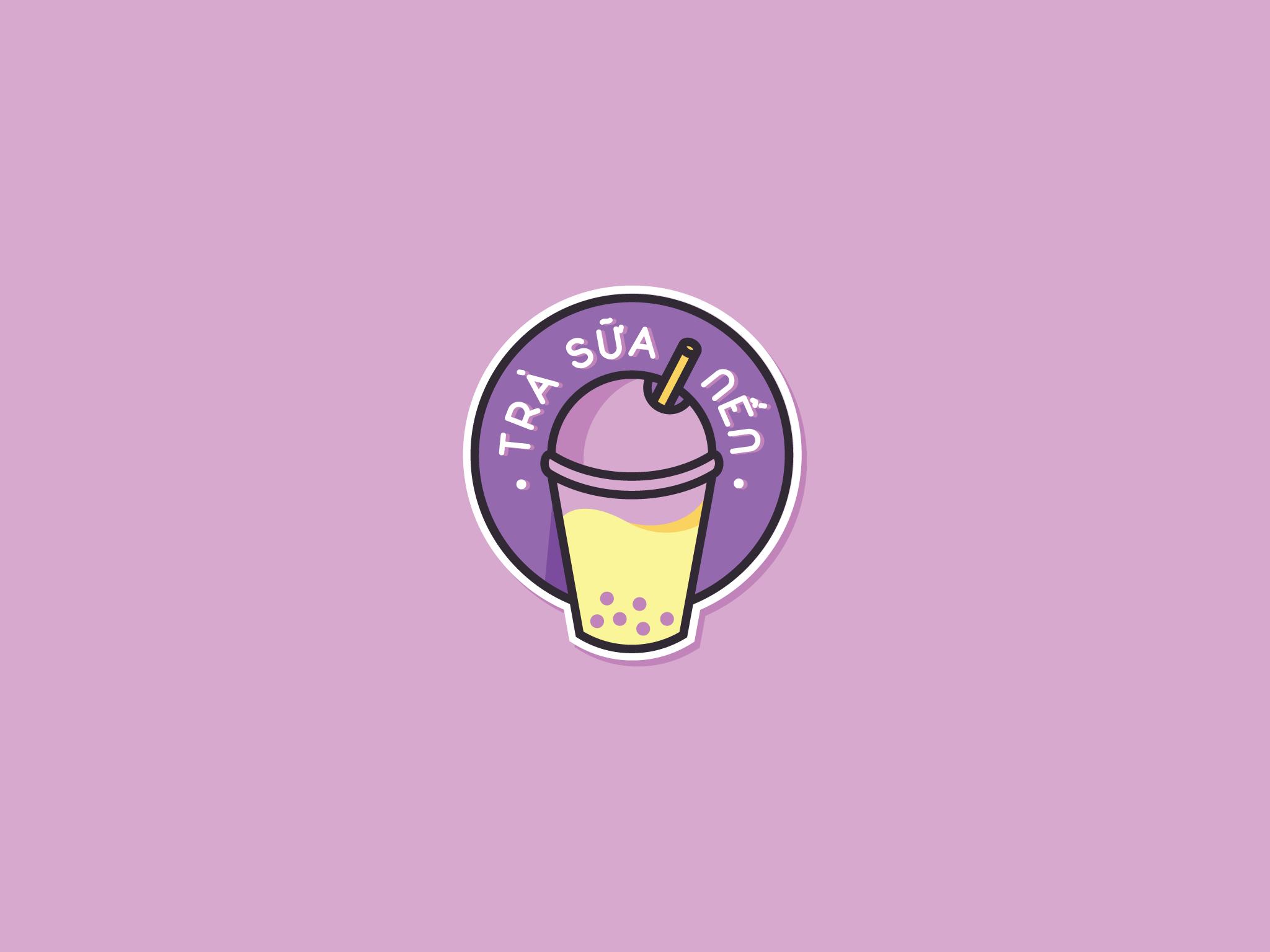 Logo Trà Sữa Nến
